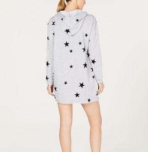 Material Girl Stars Sweatshirt Dress, S